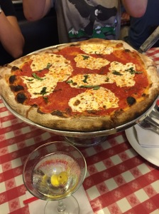 Lombardi's margherita pizza