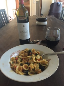 Orecchiette with olives.