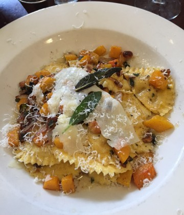 Fall Pasta. Butternut squash and sage ravioli.