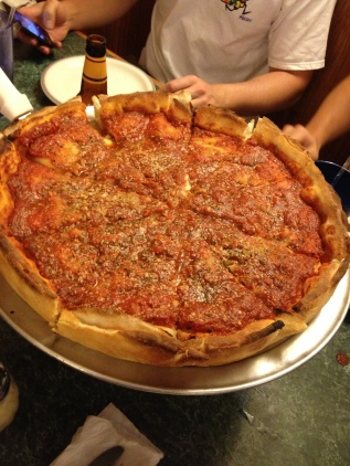 Chicago deep dish pizza.
