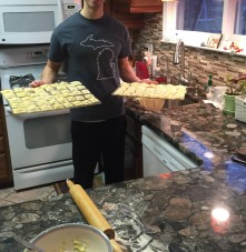 Homemade ravioli.